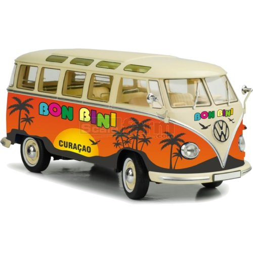 VW T1 Samba Bus 'Bon Bini' - Orange / Cream (Cararama 4-60351)