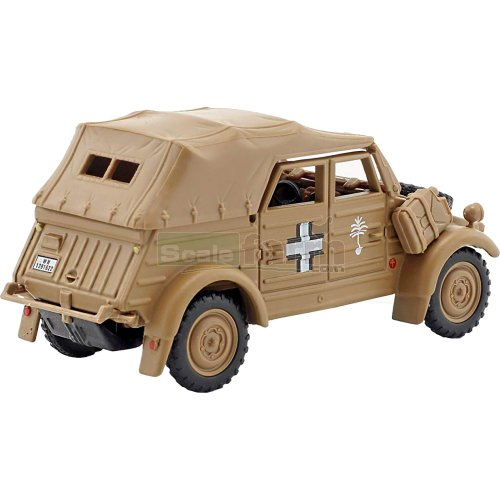 VW Kubel Type 82 Closed - 1940 Afrika Korps (Sand) (Cararama 4-90750)