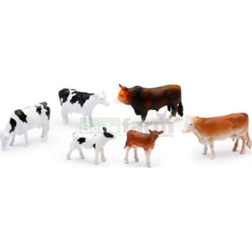 Cows - Set 1 (Jersey, Freisian, Hereford) (NewRay 05593)