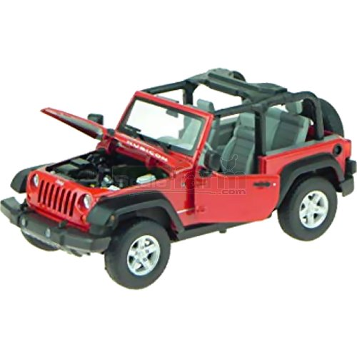 Jeep Wrangler Open Roof - Red (Welly 22489)