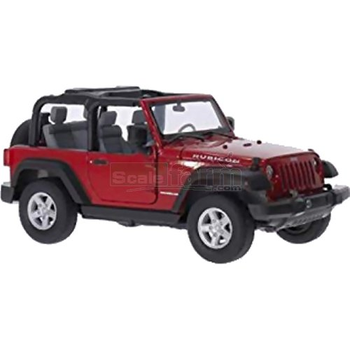 Jeep Wrangler Closed Roof - Red (Welly 22489)