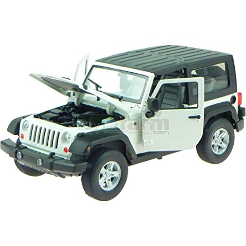 Jeep Wrangler Closed Roof - White (Welly 22489)