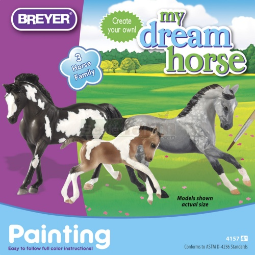 My Dream Horse - Stablemates Horse Family Painting Kit (Breyer 4157)