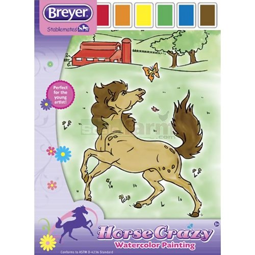 Horse Crazy Watercolour Painting Set (Breyer 4159)