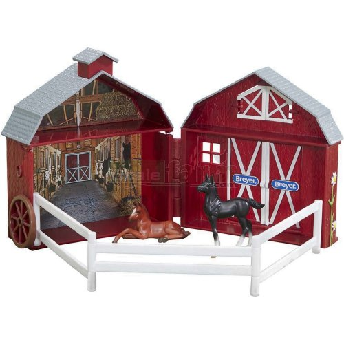 Stablemates Friendship Foals Pocket Barn (Breyer 5343)
