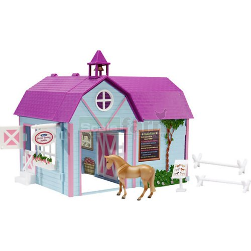 Horse Crazy Stable with Horse and Accessories (Breyer 59193)