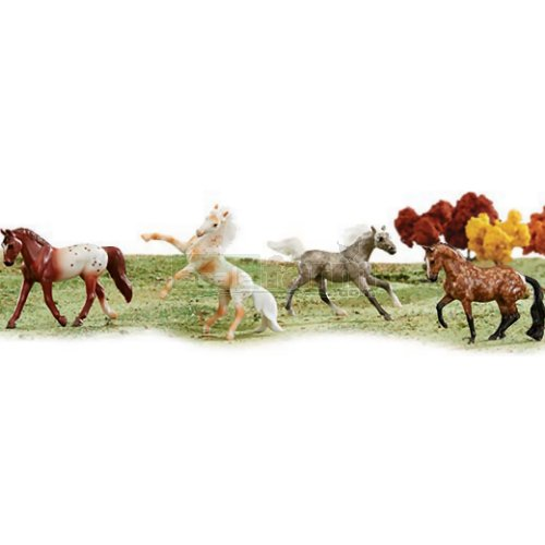 Stablemates Dapples and Dots 4 Horse Set (Breyer 6036)