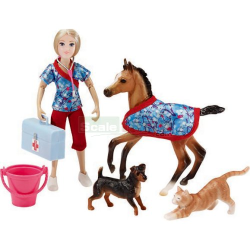 Day at the Vet - Figure, Animals and Accessories Set (Breyer 62028)