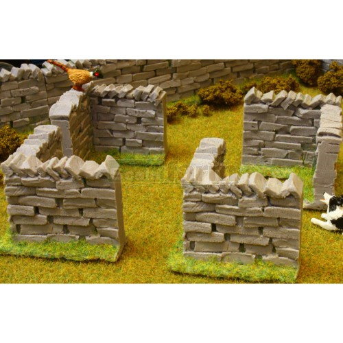 Authentic Stone Wall Corner Sections (Pack of 4) (Brushwood 3007)