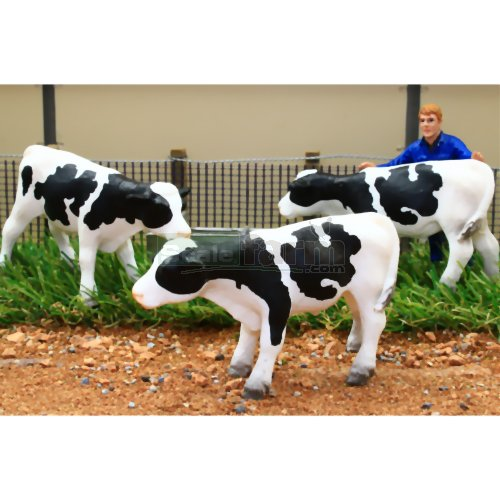 Black and White Cattle - Standing (Pack of 3) (Brushwood BT3068)