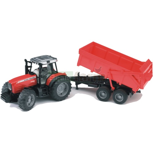 Massey Ferguson 7480 Tractor with Tipping Trailer (Bruder 02045)