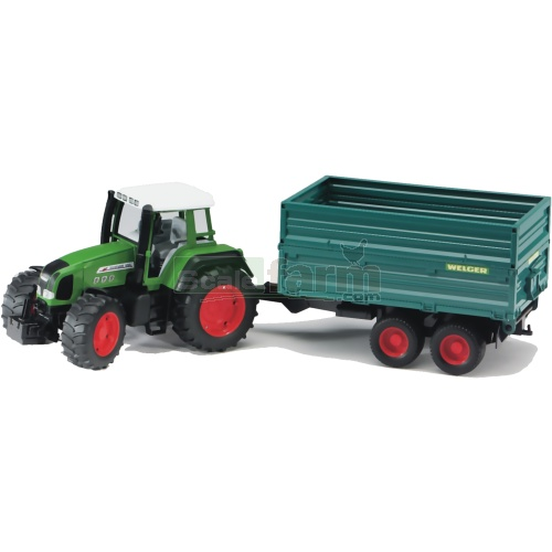 Fendt Favorit 926 Vario Tractor with Twin Axle Tipping Trailer (Bruder 02068)