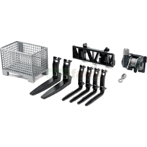 Pallet, Cable Winch and Forks Accessory Set (Bruder 02318)
