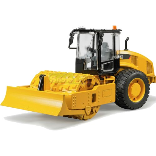 CAT Vibratory Soil Compactor with Levelling Blade (Bruder 02450)