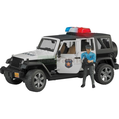 Jeep Wrangler Unlimited Rubicon Police Vehicle with Policeman (Bruder 02526)