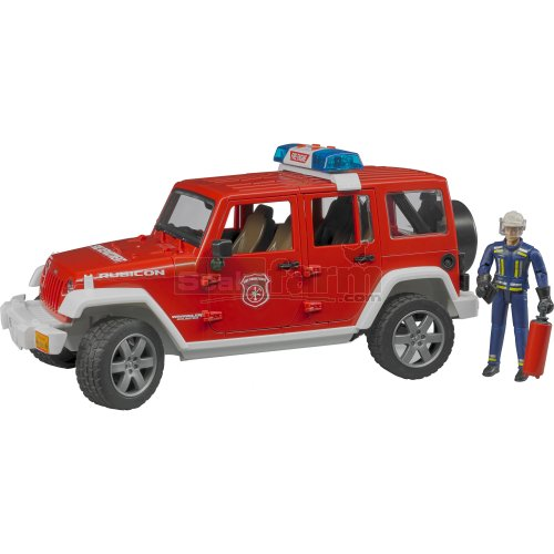 Jeep Wrangler Unlimited Rubicon Fire Department with Fireman (Bruder 02528)