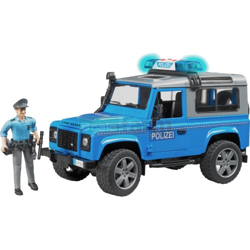Land Rover Defender Station Wagon Police Vehicle with Policeman (Bruder 02597)