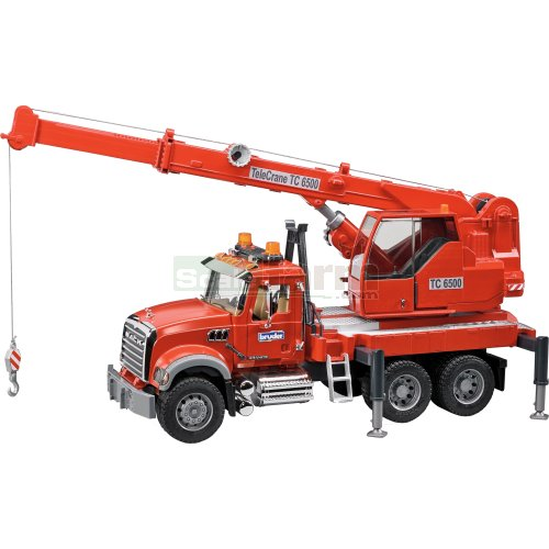 MACK Granite Crane Truck with Light and Sound Module (Bruder 02826)