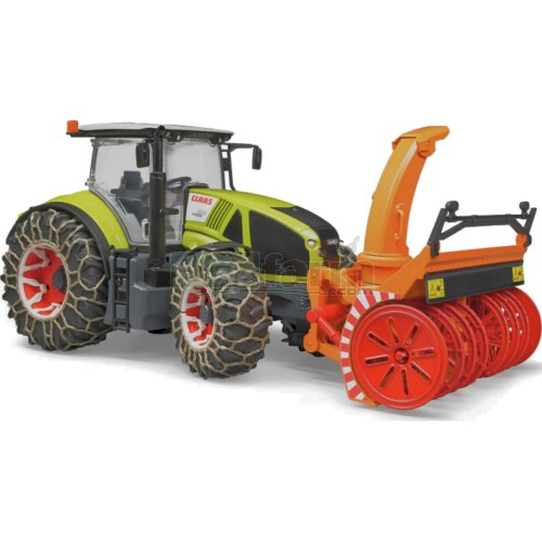 CLAAS Axion 950 Tractor  with Snow Chains and Snowblower (Bruder 03017)