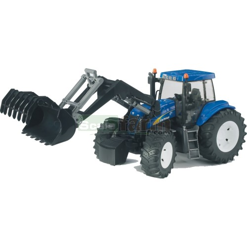 New Holland T8040 Tractor with Frontloader (Bruder 03021)