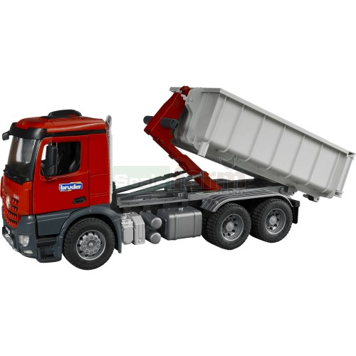 Mercedes Benz Arocs Truck with Roll-Off Container (Bruder 03622)