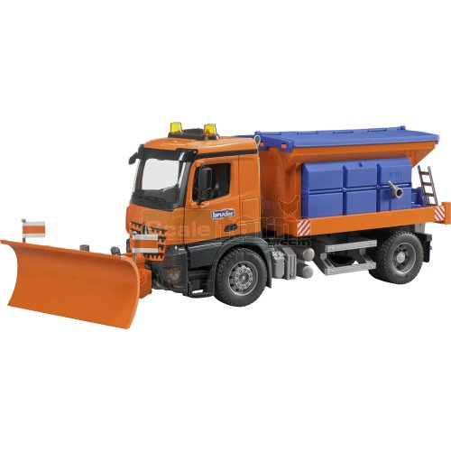 Mercedes Benz Arocs Winter Service with Snow Blade (Bruder 03685)
