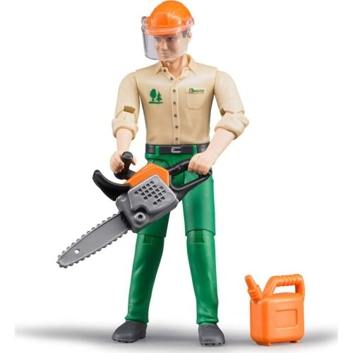 bWorld Forestry Worker with Accessories (Bruder 60030)