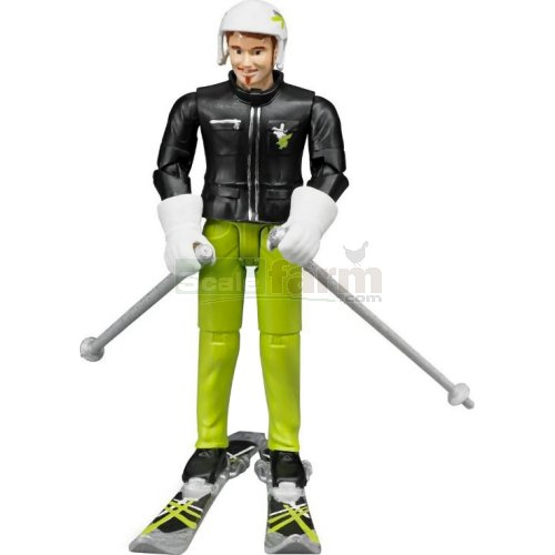 bWorld Skier with Accessories (Bruder 60040)