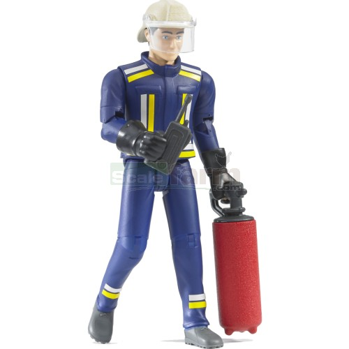 bWorld Fire Fighter Figure with Extinguisher (Bruder 60100)