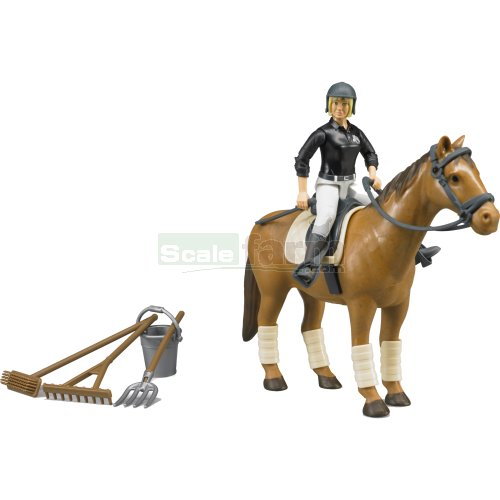 bWorld Riding Set with Figure and Horse (Bruder 62505)