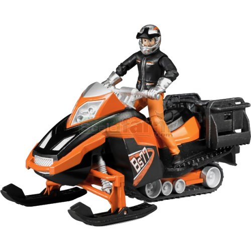 bWorld Snowmobile with Driver and Accessories (Bruder 63101)