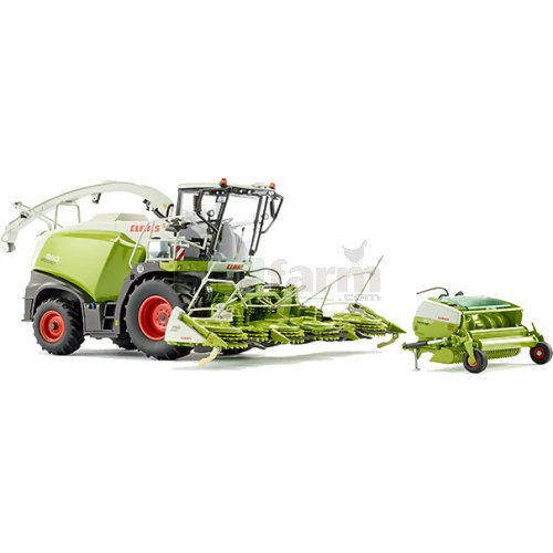 CLAAS Jaguar 860 Forage Harvester with Orbis 750 and Pick Up 300 Headers (Wiking 7812)