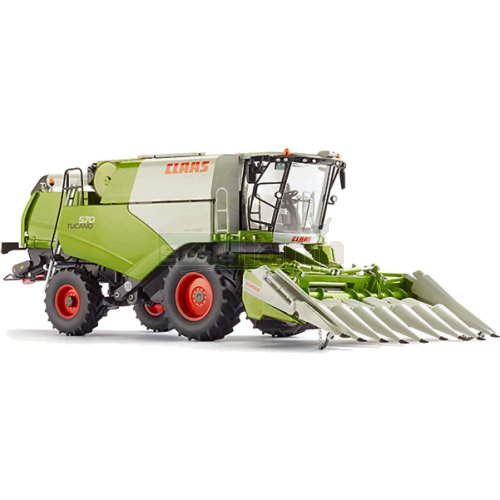 CLAAS Tucano 570 Harvester with Conspeed 8-75 Maize Header (Wiking 7818)