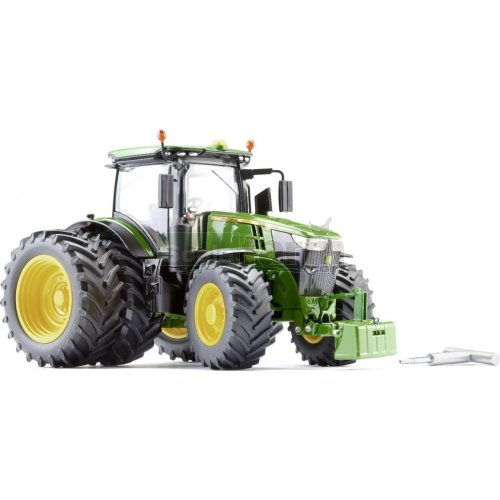 John Deere 7310R Tractor with Twin Tyres (Wiking 7846)