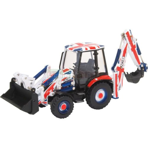 JCB 3CX Eco Backhoe Loader - Union Jack (Oxford 763CX002)