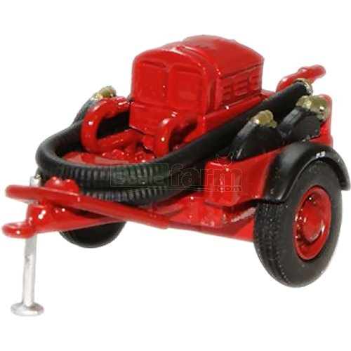 Coventry Climax Pump Trailer - Red (Oxford 76CCP003)