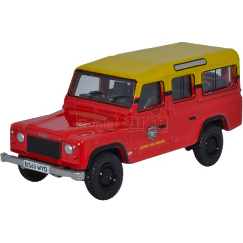 Land Rover Defender Station Wagon - London Fire Brigade (Oxford 76DEF011)