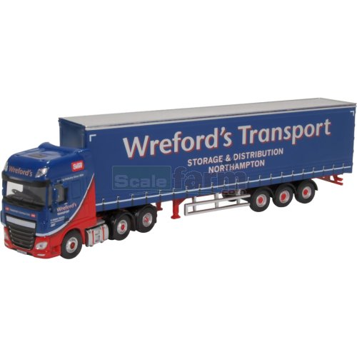 DAF XF Euro 6 Curtainside - Wrefords (Oxford 76DXF002)