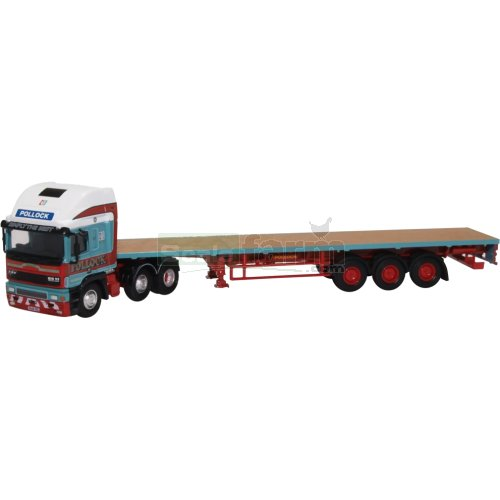 ERF EC Olympic Flatbed Trailer - Pollock (Oxford 76EC003)