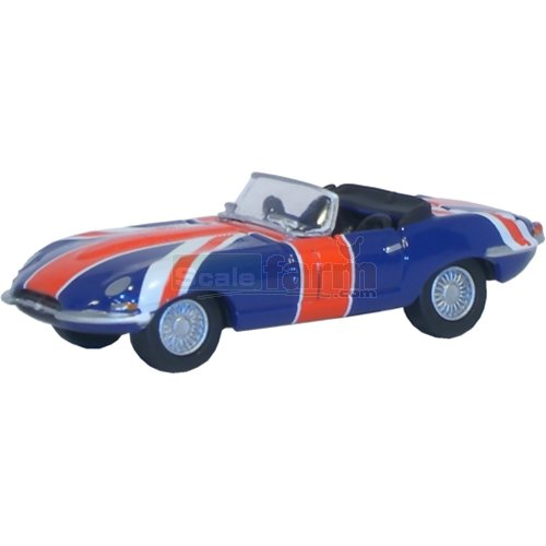 Jaguar E Type - Union Jack (Austin Powers) (Oxford 76ETYP005)