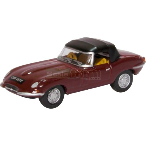 Jaguar E Type Soft Top - Imperial Maroon (Oxford 76ETYP012)