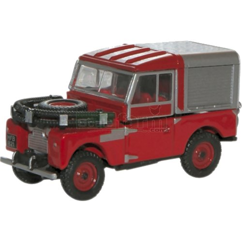 Land Rover 88 Fire - Red (Oxford 76LAN188012)