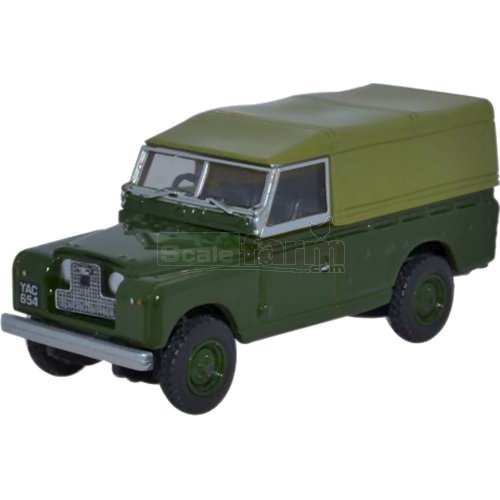 Land Rover Series II Canvas Back - Green (Oxford 76LAN2011)
