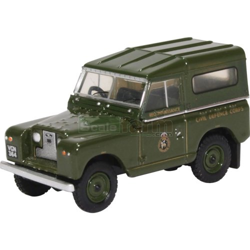 Land Rover Series II SWB Hard Back - Civil Defense (Oxford 76LR2S005)
