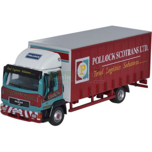 MAN L2000 Curtainside - Pollock (Oxford 76MAN001)