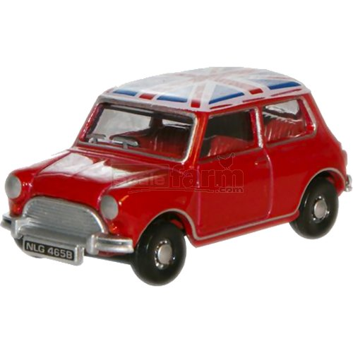 Austin Mini - Tartan Red/Union Jack (Oxford 76MN001)