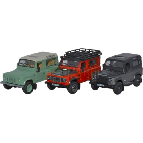 Land Rover Defender 90 Heritage 3 Piece Set (Oxford 76SET47)
