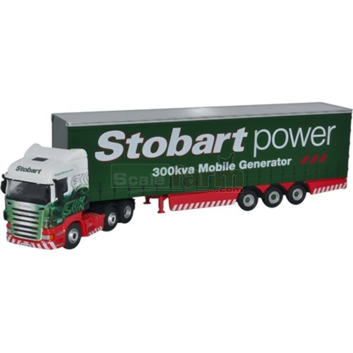 Scania Highline Curtainside - Stobart Power (Oxford 76SHL02CS)