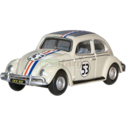VW Beetle - Pearl White (Herbie) (Oxford 76VWB001)