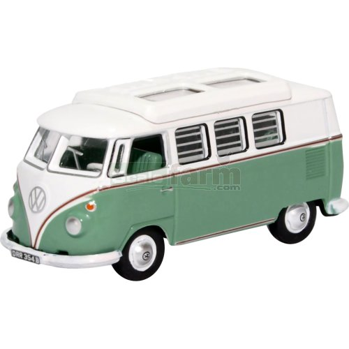 VW T1 Camper - Turquoise/White (Oxford 76VWS002)